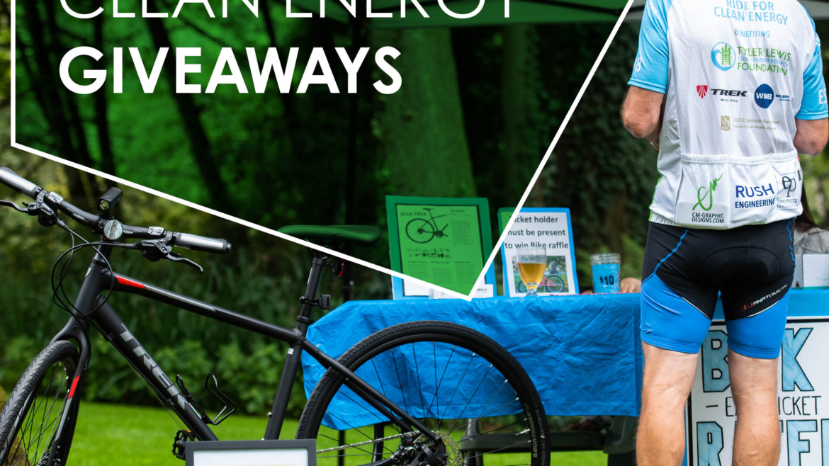 2021 Ride For Clean Energy Giveaways. Bikes, gift cards, signed jerseys and more…